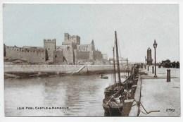 I.O.M. Peel Castle & Harbour - Dainty Series - Isle Of Man