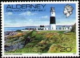 Quesnard Lighthouse, Alderney Stamp SC#42 MNH - Autres