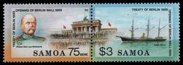Samoa 1990 - Mi-Nr. 701-702 ** - MNH - Schiffe / Ships - Samoa Américaine