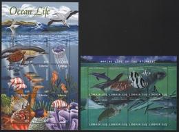 Liberia 2001 - Mi-Nr. 4171-4178 & 4198-4206 ** - MNH - Meerestiere / Marine Life - Liberia