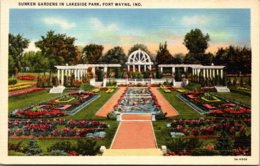 Indiana Fort Wayne Lakeside Park Sunken Gardens Curteich - Fort Wayne
