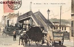 SAINT-ETIENNE EN 1900 PASSERELLE DE LA PAREILLE TRAIN LOCOMOTIVE ATTELAGE 42 LOIRE - Saint Etienne