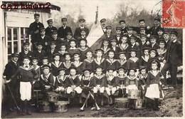 CARTE PHOTO : LES FIFRES DE SAINT-ETIENNE FANFARE MUSIQUE 1901 42 LOIRE - Saint Etienne