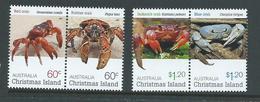 Christmas Island 2011 Crabs Set Of 4 MNH - Christmas Island