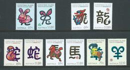 Christmas Island 2011 - 2015 The 5 Chinese New Year Sets MNH - Christmas Island