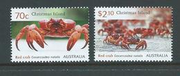 Christmas Island 2014 Red Crab Set Of 2  MNH - Christmas Island