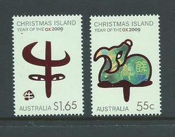 Christmas Island 2009 Chinese New Year Of The Ox Set Of 2 MNH - Christmas Island
