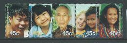 Christmas Island 2000 Faces Of Islanders Strip Of 5 MNH - Christmas Island