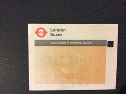TICKET LONDON BUS - Bus