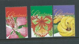 Christmas Island 1998 Xmas Tree Flowers Set Of 3 MNH - Christmas Island