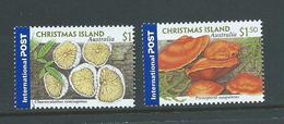 Christmas Island 2001 Mushroom Fungi International Post Set Of 2 MNH - Christmas Island