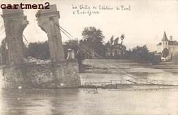 CARTE PHOTO : LE PONT D'ANDREZIEUX APRES LA CRUE DE 1907 CHUTE DU TABLIER INONDATION 42 LOIRE - Andrézieux-Bouthéon