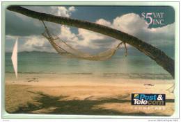 Fiji - 1993 Scenic Issue - $5 Hammock - FIJ-013 - FU - Fiji