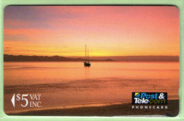 Fiji - 1992 First Issue - $5 Sunrise - FIJ-003 - VFU - Fiji