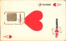 Indonesia - GSM SIM, TELKOMSEL, Kartu As (One Of Heart), Mint / Unused - Indonesia