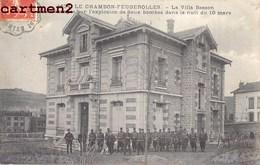 LE CHAMBON-FEUGEROLLES LA VILLA BESSON ENDOMMAGEE PAR L'EXPLOSION DE 2 BOMBES GUERRE MILITAIRE 42 LOIRE - Le Chambon Feugerolles