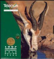 New Zealand - 1997 Gold Bullion - $75 Springbok - Mint In Telecom Collector Pack - NZ-IP-11 - Neuseeland