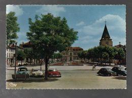Carte Postale  Vénissieux L'église,hôtel De Ville,place Léon-sublet Avec 2DS Rouge Et Blanche,2cv,..C01 - Vénissieux