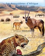 Togo 2011  Fauna Of The Kalahari Desert, Leopard, Antelope - Togo (1960-...)