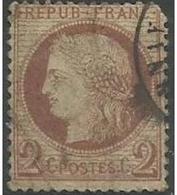 France - 1871 Ceres 2c Brown Used    Mi 46  Sc 51 - 1871-1875 Ceres