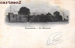 PANISSIERES LE MONORAIL TRAIN LOCOMOTIVE TRAMWAY GARE STATION 42 LOIRE - Ohne Zuordnung