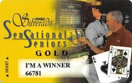 Silverado Casino - Deadwood SD - I'm A Winner / Gold Level Slot Card - Dark Haired Woman - Casino Cards