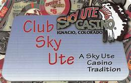 Sky Ute Casino - Ignacio, CO USA - BLANK Slot Card - Casino Cards