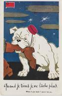 SATIRIQUE-ANTI KAISER-GUILLAUME II     QUAND JE TIENS JE NE LACHE PLUS - War 1914-18