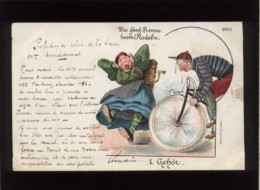 Die Fünf Sinne Beim Radeln 1 Gehör Gezetzlich Geschützt  N° 4651 Les 5 Sens à Vélo L'ouïe  Précurseur - Voor 1900