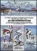 TAAF, N° 340 à N° 343**, BF N° 7** Y Et T (bloc-feuillet), Jeux Olympiques Des TAAF - Blocs-feuillets