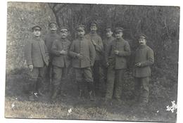 (RECTO / VERSO) GROUPE DE MILITAIRES - CARTE PHOTO CPA - 75 - Regimenten