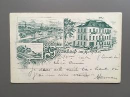 GERNSBACH IM MURGTHAL - Hotel Zur Krone - Litho - 1900 - Gernsbach