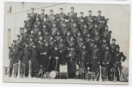 (RECTO / VERSO) GROUPE DE MILITAIRES MUSICIENS - CARTE PHOTO CPA - 75 - Regimenten