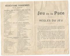 JEU DE LA PUCE : REGLES DU JEU - Group Games, Parlour Games