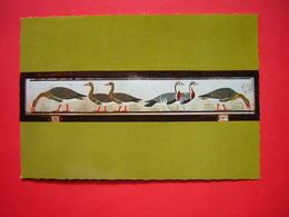 CPSM MUSEE DU CAIRE - CAIRO  THE EGYPTIAN MUSEUM  LES OIES DE MEIDOUM4 E DYN  NON VOYAGEE - Musées