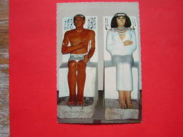CPSM MUSEE DU CAIRE - CAIRO  THE EGYPTIAN MUSEUM  LE PRINCE RAHOTEP ET SA FEMME PRINCESS NOFERT 4e DYN  NON VOYAGEE - Musées