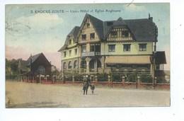 Knokke Links Hôtel Et Eglise Anglicane - Knokke