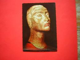 CPSM MUSEE DU CAIRE - CAIRO  THE EGYPTIAN MUSEUM  TETE INACHEVEE DE LA REINE NEFERTITI 18e DYN  NON VOYAGEE - Musées