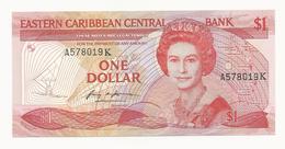East Caribbean States 1 Dollar Suffix Letter K UNC - Caraïbes Orientales