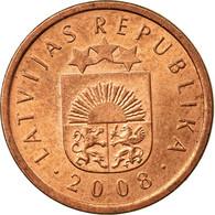 Monnaie, Latvia, Santims, 2008, TTB, Copper Clad Steel, KM:15 - Lettonie