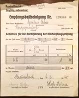 AD172 Alte Empfangsbestätigung Milchleistungsprüfung Krumbach 1945 - Autriche