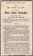Ertvelde, Boekhoute, 1940; Marie Verhaeghe, Van De Steene - Devotion Images