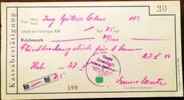 AD173 Alte Zahlungsbestätigung Markt Krumbach 1944 In Reichsmark - Autriche