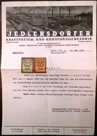 AD174 Dienstzeugnis D. Jedlersdorfer Kraftfutter- Und Kunstdüngerfabrik 1933 - Historische Dokumente