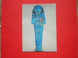 CPM PARIS MUSEE DU LOUVRE DEPARTEMENT DES ANTIQUITES EGYPTIENNES OUSHEBTI DU ROI SETHI I VERS 1300 AV J C  NON VOYAGEE - Musées