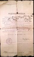 """AD177 Bestätigung über Militärdienst Infantrieregiment 39 """"Vyzvedni"""", 1921 - Historische Dokumente"""