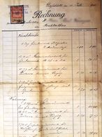 AD181 Alte Rechnung Für Renovierung, Gießhübl Im Juli 1900, Mit Stempelmarke - Autriche