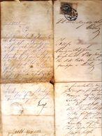 AD182 Alte Gerichtskorrespondenz Gießhübl Im Dezember 1888, Mit Stempelmarke - Historische Dokumente