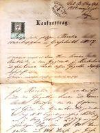 AD183 Alter Kaufvertrag Gießhübl Im Dezember 1883, Mit Stempelmarken - Historische Dokumente