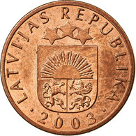 Monnaie, Latvia, Santims, 2003, TTB, Copper Clad Steel, KM:15 - Lettonie